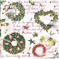 Tovaglioli carta Ghirlande Natale 20 pz cm.33x33