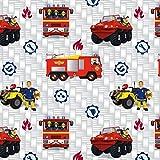 Baumwolljersey Feuerwehrmann Sam Jupiter Lizenzstoff - Preis gilt für 0,5 Meter - Vergleich