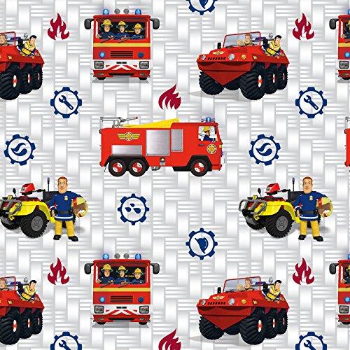 feuerwehrmann sam meterware Baumwolljersey Feuerwehrmann Sam Jupiter Lizenzstoff - Preis gilt für 0,5 Meter -