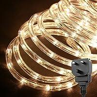 Amazon rope lights lighting le outdoor led rope lights kit 10m 240 leds waterproof strip lights 24v aloadofball Image collections