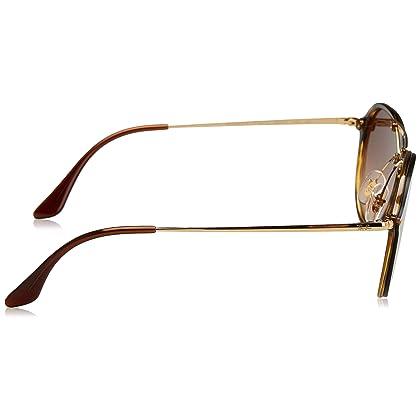5f164bdfdfabe Ray-Ban RAYBAN Unisex-Erwachsene Sonnenbrille Blaze Double Bridge, Braun  (Light Havana