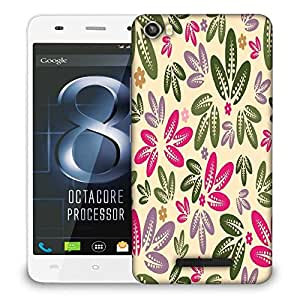 Snoogg Multicolor Leaves Designer Protective Phone Back Case Cover For Lava Iris X8