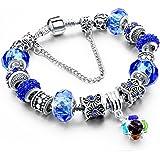 Beloved Braccialetto da donna con cristalli - bracciale compatibile pandora - beads e charms - bead placcate argento, in vetr