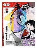 Marabu 1612000000073 - Malblock Mixed Media, Papier fein gekörnt, matt, säurefrei, für Aquarell- und Acrylmalerei, Collagetechnik, Skizzen und Mischtechniken, 300 g/qm, 20 Blatt, 30 x 40 cm, naturweiß