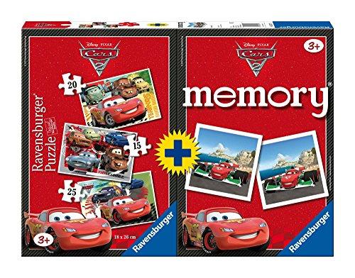 3 PUZZLE + MEMORY CARS 2 RAVENSBURGER