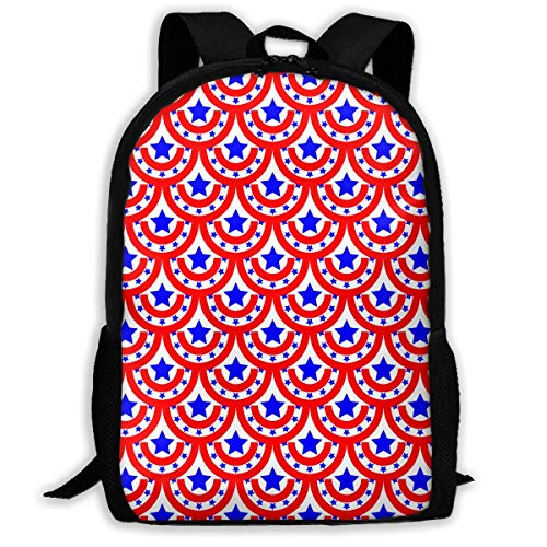 CVDGSAD USA Flagge Halbrunde Sterne Rucksack Kinder Kühle Schultasche Muster Mädchen Jungen Tag Pack
