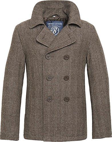 Brandit Pea Coat Jacke braun L (Kragen Pea Coat)