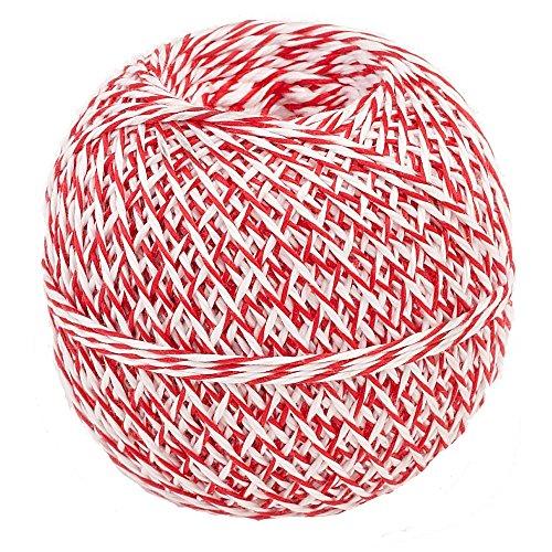 Küchengarn 200 m Küchenfaden rot/weiß | Kunstfaser (Rot Kunstfaser)