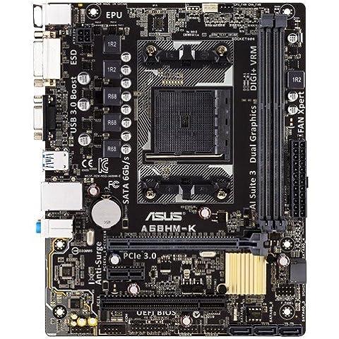 ASUS A68HM-K - Placa base (DIMM, DDR3-SDRAM, Dual, AMD, 2GB, 4GB, 8GB, PC)