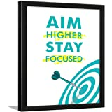 Chaka Chaundh - Aim Focus Motivational Quotes Frames Motivational Poster Wall Decor - (34 cm x 27 cm x 4 cm)