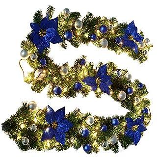 Surfmalleu Guirnalda de Navidad Decoración Led para Árbol Artificial Premium 270 cm con Ramas Desplegables de Púa de PVC 40 Luces