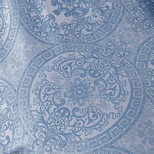 Curt Bauer Mako Brokat Damast Bettwäsche Odyssa Größe 140×200+70×90 cm Farbe Ozean