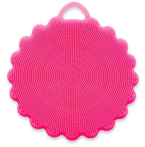 SpülWunder Schwamm DUO - Silikonschwamm und Fusselbürste in verschiedenen Farben (rot)