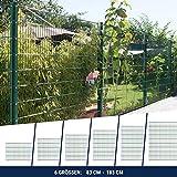 HORI® Doppelstabmattenzaun I Zaun Komplettset I verschiedene Längen und Höhen - wahlweise mit Abdeckschiene oder Klemmhalter I Grün RAL 6005 I Höhe 83 cm I Länge 2.5 m