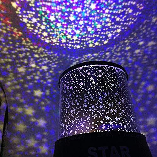 Setsail Automatischer rotierender Sternenhimmelprojektor Sternenhimmel Lampe, nachtlicht Lampe 360° Grad Rotation + 8 romantische licht, Perfektes für Kinder, Geburtstage, Weihnachten usw