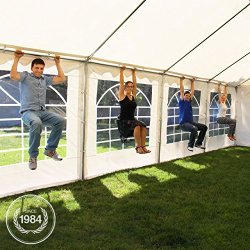 profizelt24 party zelt festzelt 3x6m garten pavillon zelt mit fenstern hochwertige 500g m pvc. Black Bedroom Furniture Sets. Home Design Ideas