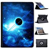Fancy A Snuggle Planet mit Ringen Saturn in blauem Weltraum Case Cover/Folio aus Kunstleder für Das Apple iPad AIR 2 (2nd Generation)
