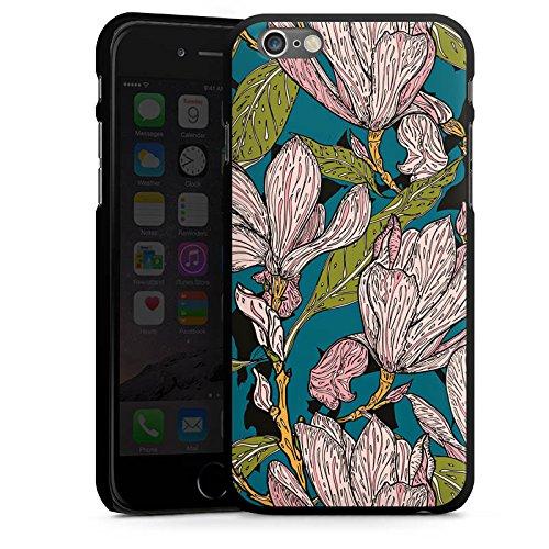 Apple iPhone SE Housse Outdoor Étui militaire Coque Magnolias Fleurs Fleurs CasDur noir