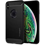 Spigen iPhone XS Max Rugged Armor cover/case - Matte Black