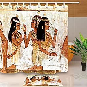 Egypt decor egyptian women siting in ground shower for Bathroom accessories egypt