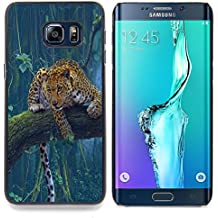 STPlus Animal leopardo Carcasa Funda Rigida Para Samsung Galaxy S6 Edge Plus