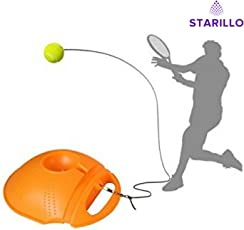 STARILLO Tennis Training Tool Exercise Tennis Ball Self-Study Rebound with Tennis Trainer Baseboard