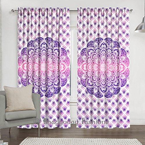 indien Tenture Mandala Coton Porte Cutain Décor fenêtre Rideaux drapé Rideau de chambre balcon par Bhagyoday Fashions