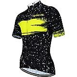 SUUKAA Maillot de Ciclismo para Hombre Camiseta Ropa Paseo Manga Corta,Top Ciclismo Bicicleta Maillots,Transpirable y Que Abs
