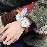 VIMOER Mädchen-Armbanduhr, einfache und schöne Quarz-Uhr, abnehmbar, gestreift