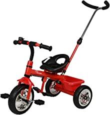 R for Rabbit Tiny Toes Grand - The Smart Plug and Play Baby Tricycle for Kids/Baby (RED)