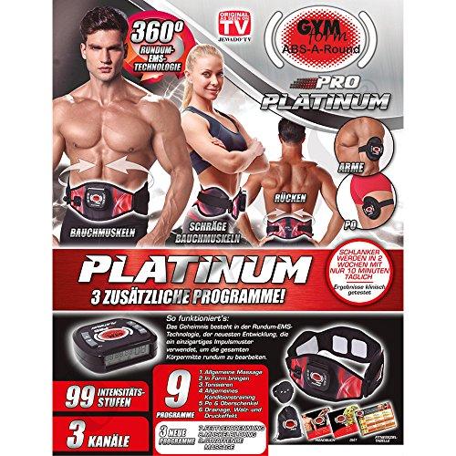 Gymform ABS de a de Round Pro Platinum Versión Completa con 3 Programas adicionales S/M, L/XL Original de TV, color negro