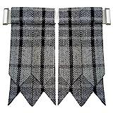 NEU Herren Kilt Blitze Hamilton grau Schottenkaro/schottisch Kilt Hose Socken Blitze Tartan