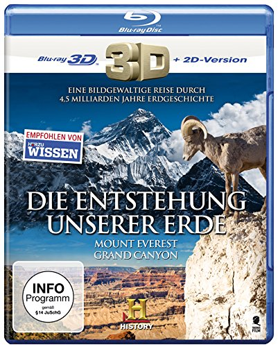 Die Entstehung unserer Erde: Grand Canyon - Mount Everest (History) [3D Blu-ray + 2D Version]