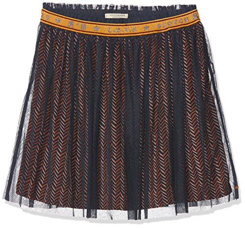 Scotch & Soda R´Belle Scotch & Soda R´Belle Mädchen Rock Elasticated Tulle Skirt with Allover Printed Woven Lining Mehrfarbig (Combo E 221) 116