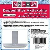 Universal Aktivkohlefilter / Aktiv-Kohlefilter für jede Dunstabzugshaube geeignet, Filter Dunstabzug zuschneidbar - 47x57cm - Set Fettfilter + Aktivkohle für geruchsfreie Küche
