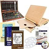 Us Art Supply Deluxe Kunst Kreativität Set in Holzkiste 103-Piece Deluxe Bonus-Set 103-Teile-Bonus-Set mit Staffelei