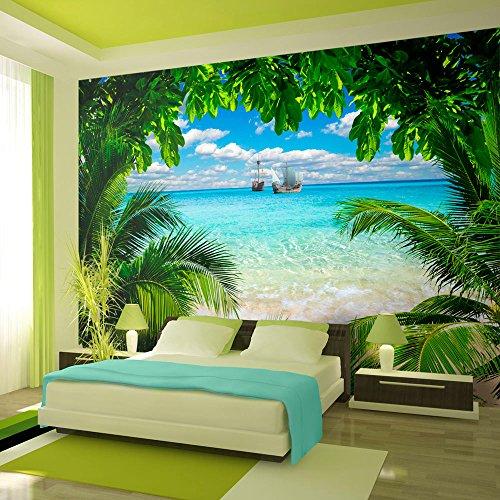 murando – Papier peint intissé – 200x140 cm – Trompe l oeil - Tableaux muraux – Déco – XXL– nature paysage c-A-0047-a-a