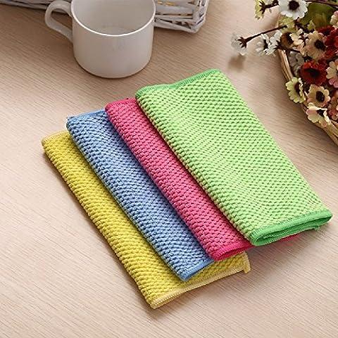 XJoel Fiber Cleaning cloths Dishcloths Rags Washing cloths Cleaning towel 4pcs
