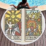 Beach Bath Towel Round Tarot Brand Print Edgy Beach Towel Microfibre Digital Print Travel Cartoon Novelty Sun Lounger Dock And Bay Large No Sand Boys Girl C