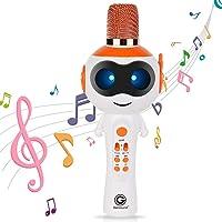 Karaoké Microphone pour Enfants Microphone sans Fil Chant Machine Meilleur Cadeau pour Les Garçons et Les Filles d…