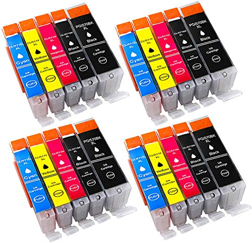 20 Druckerpatronen komp. für Canon PGI-570 XL CLI-571 XL Multipack für Canon PIXMA MG5750 TS5050 MG7700 MG7750 MG5751 MG5752 MG5753 MG6850 MG6851 MG6852 MG6853 MG7751 MG7752 MG7753 Patronen