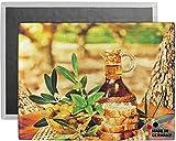 matches21 Tischset Platzset COMFORTWASH italienisch Mediterran Olivenöl Oliven 2er Set Maschinenwaschbar 40x30x0,5 cm