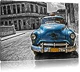 Schönheit in Cuba schwarz/weiß Format: 100x70 auf Leinwand, XXL riesige Bilder fertig gerahmt mit Keilrahmen, Kunstdruck auf Wandbild mit Rahmen, günstiger als Gemälde oder Ölbild, kein Poster oder Plakat