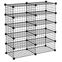 SONGMICS 10 Cube Modular Shoe Rack, Metal DIY Storage Unit