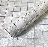 Bluelover Sfondo Grigio Anti Mosaico Impermeabile Wall Sticker Autoadesivo Di Alluminio Olio Da Cucina 45X500Cm