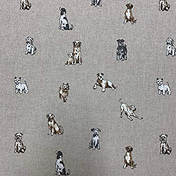 Cotton Rich Linen Look Fabric Woodland Animals Deer Foxes Upholstery 140cm Wide