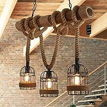Beautiful Rustikal Hanfseil Eisen Leuchter Retro Vintage Seilleuchte Seil  Lichter Runde Hngend Eisen Kfig Hngelampe With Rustikale Lampen