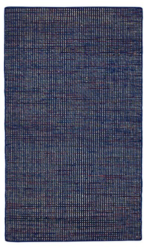 Morgenland Kelim Tapis ARVIN 200 x 80 cm carré Kilim Bleu camaïeu tissé à la main laine vierge Chambre D'Enfant Peut être utilisé des deux côtés