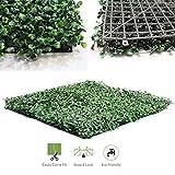 Siepe di bosso artificiale, recinzione per privacy, pannelli schermo di due tonalità di verde (50,8x 50,8cm, confezione da 6o 12 pezzi), 50x50cm Pack of 6