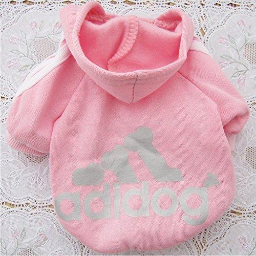 green-house-pet-dog-cat-sweater-puppy-t-shirt-con-cappuccio-cappotto-caldo-clothes-apparel-rosa-m